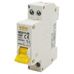 TOT interruttore differenziale automatico 1P+N 6 kA 10 16 20 25 32A ampere salvavita