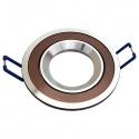 Porta Faretto tondo marrone/cromato orientabile controsoffitto Lampadine led GU10