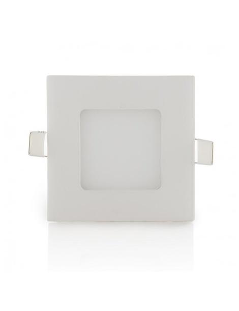 pannello quadrato slim led 3w ip20  incasso Faro faretto luce bianca fredda 6500k naturale 4500k calda 3000k Downlight