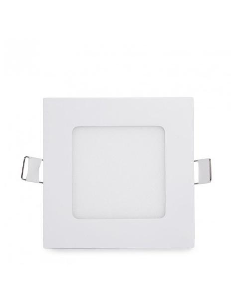 Pannello led quadrato bianco slim 6w ip20 incasso faro faretto luce bianca fredda 6500k naturale 4500k calda 3000k Downlight
