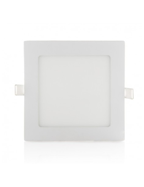 Pannello led quadrato slim 12w ip20 incasso faro faretto completo driver bianco luce calda naturale fredda Downlight