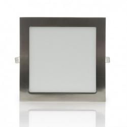 Pannello led quadrato acciaio nickel slim 24w ip20 incasso faro faretto Downlight