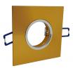 Porta faretto quadrato fisso incasso controsoffitto lampade lampadine led gu10 gu5.3 mr16