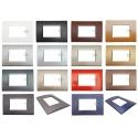 Placche Compatibili Bticino LIVING LIGHT placca 3 4 7 moduli per supporti LN4703
