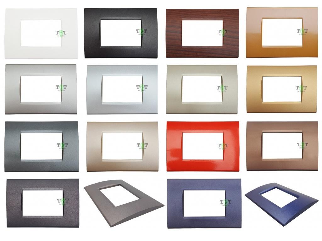 Placche Compatibili Bticino Living Light Placca 3 4 7 Moduli