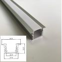 Profilo Alluminio incasso alto Strisce Strip LED Barra Rigida Copertura Opaco
