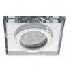 Porta Faretto quadrato Vetro specchio incasso Lampadine led GU10 MR16 controsoffitto