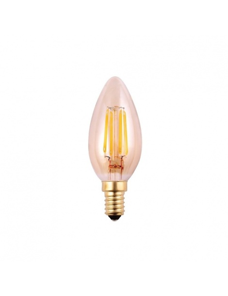 Lampadina led oliva 4w bulbo E14 ambrato luce calda 2700k illuminazione