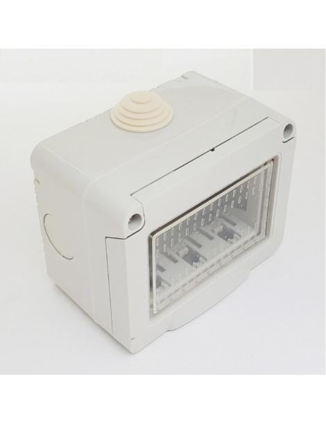 Cassetta esterna idrobox IP55 scatola placca compatibile Vimar plana 2 3 posti