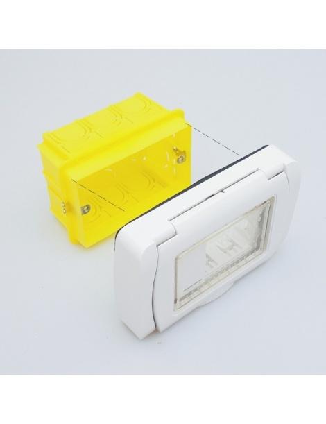Coperchio Idrobox IP55 autoportante esterno impermeabile compatibile living