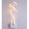 Applique parete spirale LED 18W moderna bianco lampada muro camera luce naturale