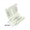 Connettore a clip 8mm 2pin per striscia led strip 2835 jack femmina 5x2,5mm