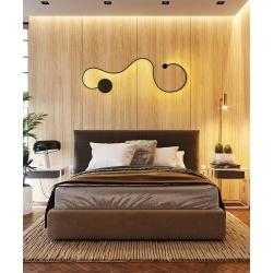 Applique parete led 33w plafoniera Moderno nero lampada camera luce naturale