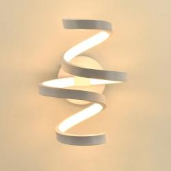Applique parete spirale LED 24W moderna bianco lampada muro camera luce naturale