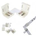 5 Clip 10mm 4pin rgb angolare connettore per striscia led strip 5050 accessori