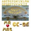 Palloncini gonfiabili lettere e numeri oro con chiusura