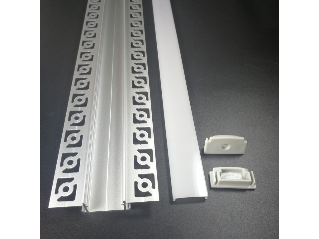 Strisce Led Per Cartongesso profilo alluminio opaco 2mt incasso scomparsa cartongesso