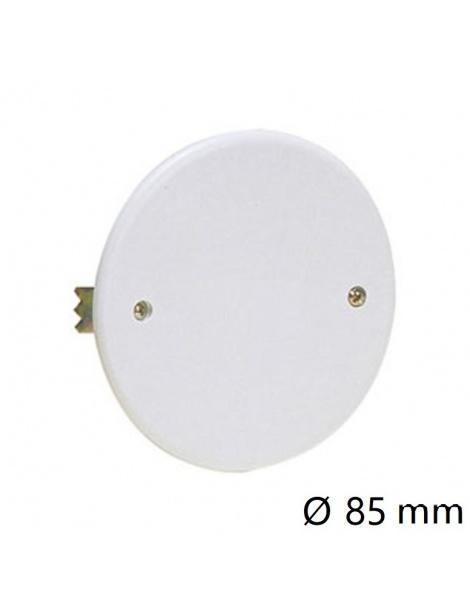Coperchio bianco tondo Ø 85mm per scatola derivazione 2 viti da incasso