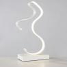 Lampada scrivania led 10w onda bianco lume da tavolo moderno luce naturale/bianca
