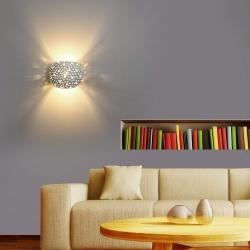Applique parete gesso doppia emissione luce led G9 verniciabile lampada moderna