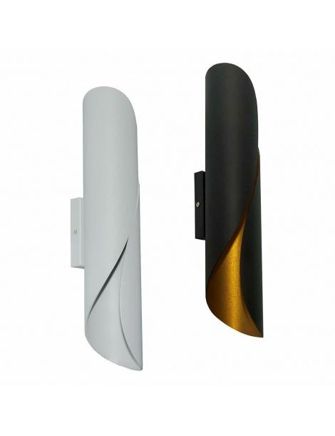 Applique LED G9 lampada parete moderna doppio fascio camera salone nero bianco