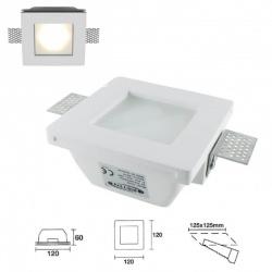 Portafaretto in gesso quadrato con vetro a scomparsa da incasso lampade led gu10