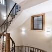 Applique parete led 8w rettangolare lampada muro interno moderno doppia luce