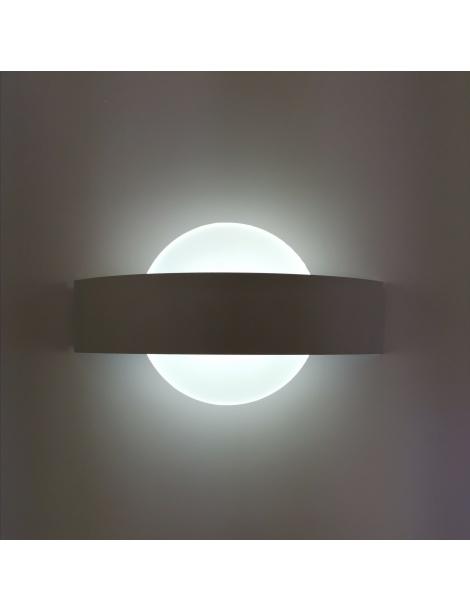 Applique parete led 8w cerchio bianco lampada muro moderno interno camera salotto