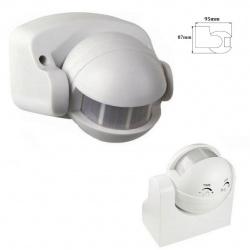 Sensore di movimento pir rilevatore presenza luci infrarossi 180° bianco