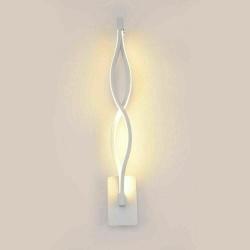 Applique led parete 9w lampada muro spirale bianco moderno luce calda 3000k