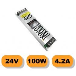 Alimentatore stabilizzato ultrasottile 24v 4.2A 100W trasformatore professionale slim