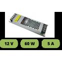 Trasformatore ultrasottile 12V 5A 60W alimentatore stabilizzato 25mm strip led