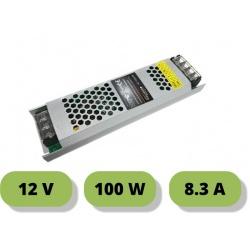 Trasformatore ultrasottile 12V 8.3A 100W alimentatore stabilizzato 25mm strip led