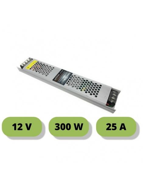 Trasformatore ultrasottile 12V 25A 300W alimentatore stabilizzato 25mm strip led
