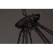 Lampadario sospensione 6xE27 corda canapa vintage pendente cerchio rustico retrò