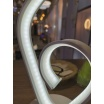 Lampada scrivania led 10w lume tavolo bianco moderno cuore onda luce comodino