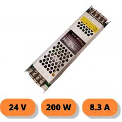 Alimentatore stabilizzato ultrasottile 24v 8.3A 200W trasformatore professionale slim