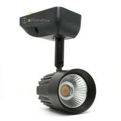 Faretto proiettore LED 11W spot soffitto orientabile nero luce vetrina negozio