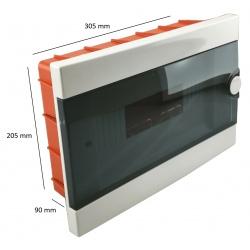 Quadro elettrico centralino 12 moduli DIN box incasso scatola IP40 interruttori
