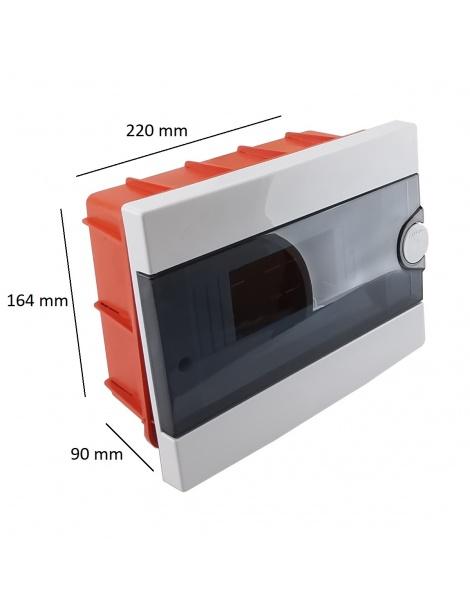 Quadro elettrico centralino 9 moduli DIN box incasso scatola IP40 interruttori