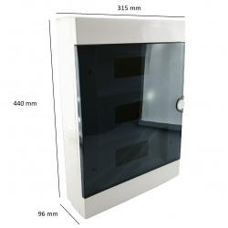 Quadro elettrico centralino 36 moduli DIN box superfice scatola IP40 interruttori