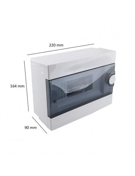 Quadro elettrico centralino 9 moduli DIN box superfice scatola IP40 interruttori