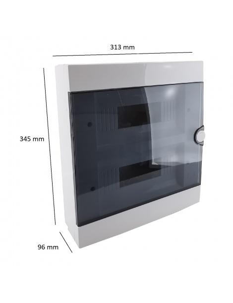 Quadro elettrico centralino 24 moduli DIN box superfice scatola IP40 interruttori
