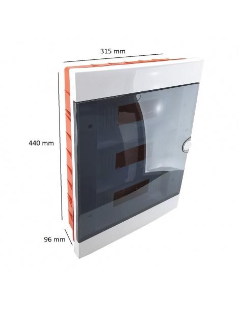 Quadro elettrico centralino 36 moduli DIN box incasso scatola IP40 interruttori
