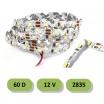 Striscia led curvabile 60D 12V smd 2835 IP 22 5 metri 8W/mt strip pieghevole