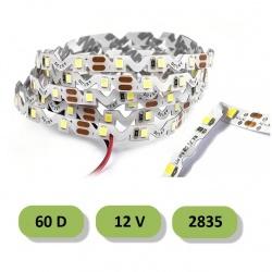 Striscia led curvabile 60D 12V 2835 IP20 5 metri 5W/mt strip pieghevole insegne