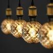 Lampadina filamento E27 4W sfera globo ambra lampada decorativa vintage luce calda