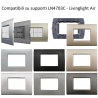 Placche compatibili bticino livinglight air placca quadra per supporti LN4703C