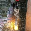 Applique parete E27 lampada vintage corda canapa rubinetto luce led muro country