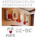 Palloncini gonfiabili lettere e numeri argento con chiusura